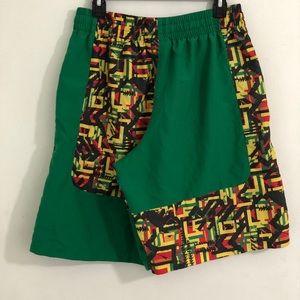 Men's green under armour gym shorts